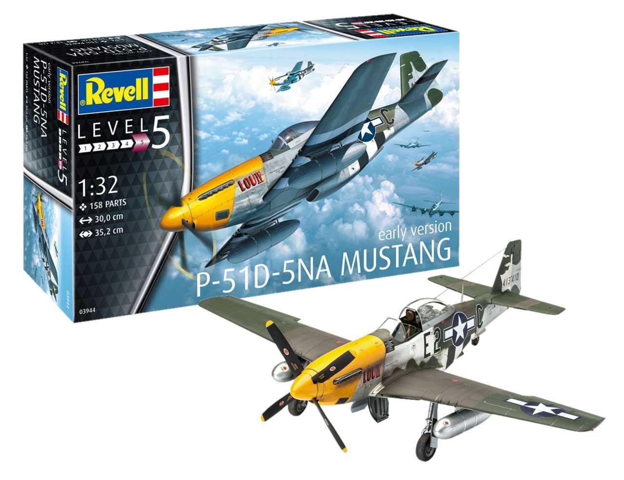 5a96842bf revellonline | Plastic ModelKit letadlo 03944 - P-51D-5NA Mustang (1:32)